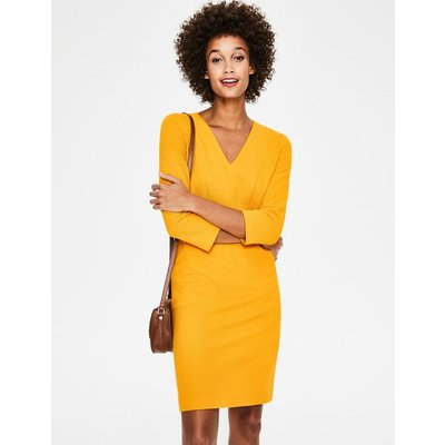 Bronte Ottoman Dress Yellow Women Boden, Yellow