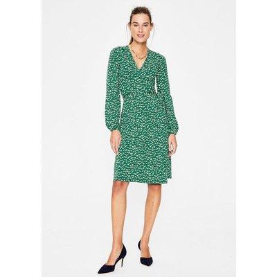 Elodie Jersey Wrap Dress Green Women Boden, Green