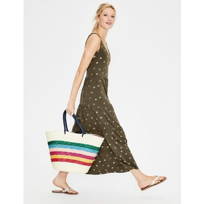 Maya Jersey Maxi Dress Khaki Women Boden, Khaki
