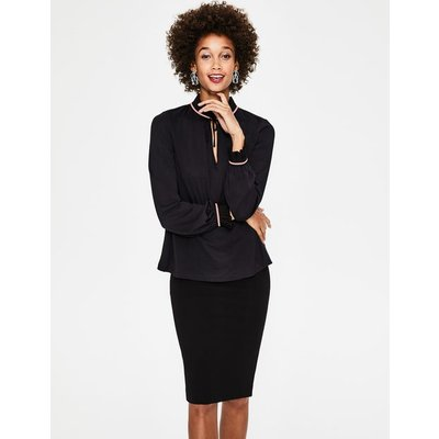 Bronwyn Jersey Top Black Women Boden, Black
