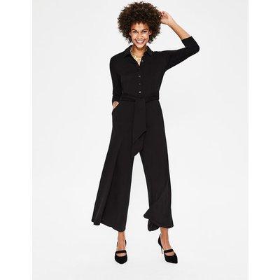 Beatrice Jersey Jumpsuit Black Women Boden, Black
