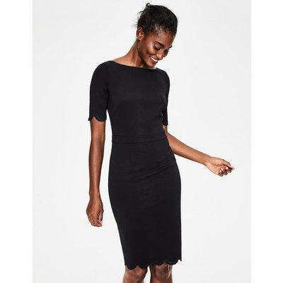 Emma Ponte Dress Black Women Boden, Black