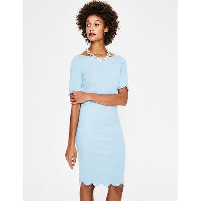 Emma Ponte Dress Blue Women Boden, Blue