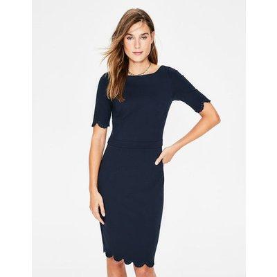 Emma Ponte Dress Navy Women Boden, Navy