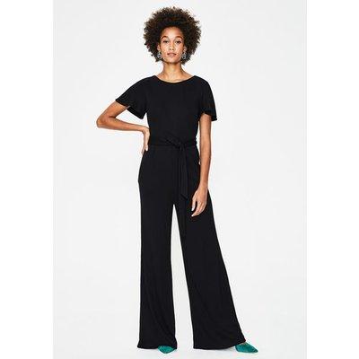 Camille Ponte Jumpsuit Black Women Boden, Black