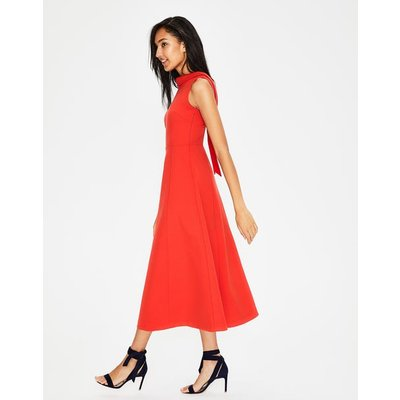 Aria Ponte Midi Dress Red Women Boden, Red