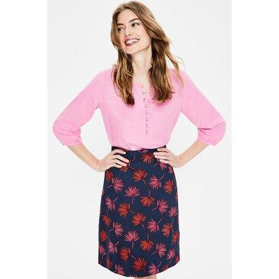 Printed Cotton A-line Skirt Navy Women Boden, Navy