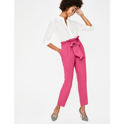 Melina Paperbag Trousers Pink Women Boden, Pink
