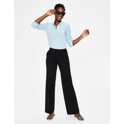 Hampshire Ponte Trousers Black Women Boden, Black