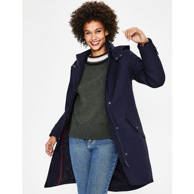 Suki Waterproof Coat Navy Women Boden, Navy
