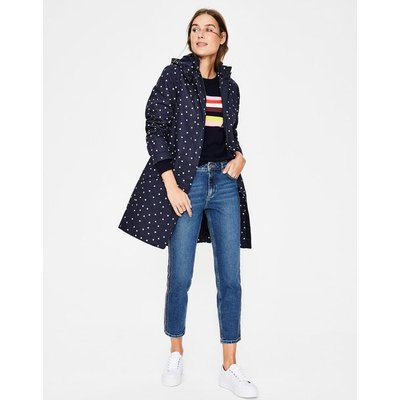 Suki Waterproof Coat Navy Women Boden, Ivory