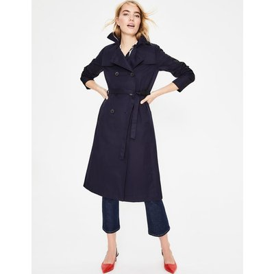 Whitstable Trench Coat Navy Women Boden, Navy
