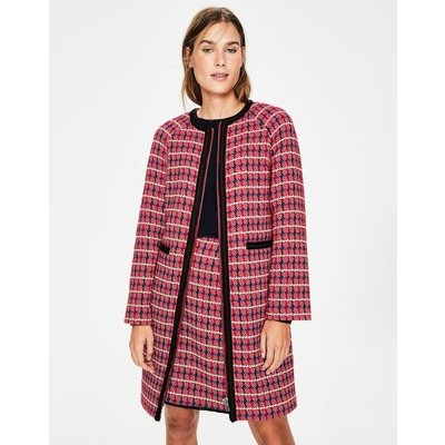 Eadie Textured Coat Red Women Boden, Red