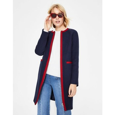 Eadie Textured Coat Navy Women Boden, Navy