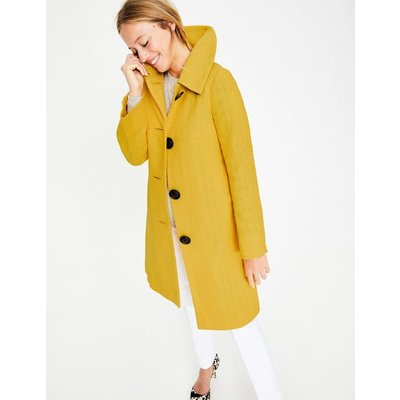 Vintage Swing Coat Yellow Women Boden, Yellow