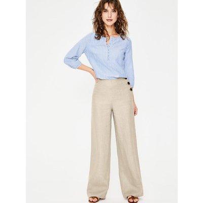 Penzance Linen Trousers Brown Women Boden, Beige