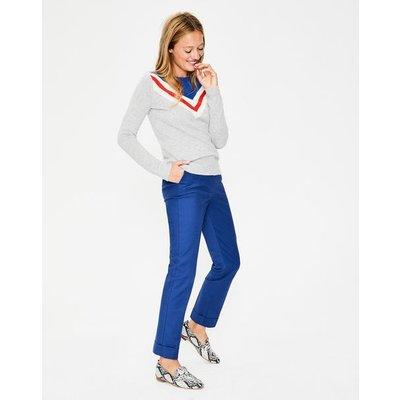 Kensington Turn-up Trousers Blue Women Boden, Blue
