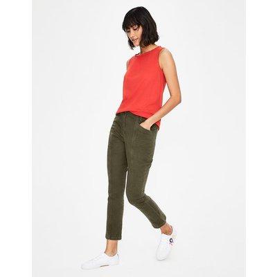 Lydford Trousers Khaki Women Boden, Khaki
