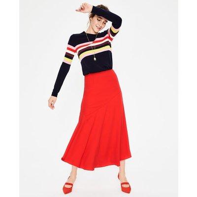 Alina Midi Skirt Red Women Boden, Red