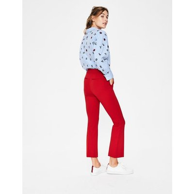 Hampshire Crop Flare Trousers Red Women Boden, Red