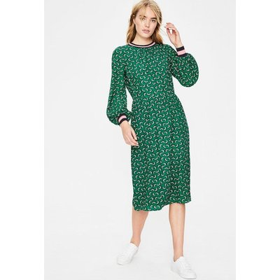 Roberta Rib Detail Dress Green Women Boden, Green