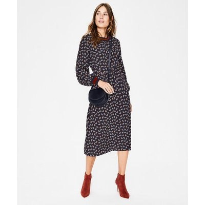 Roberta Rib Detail Dress Navy Women Boden, Navy