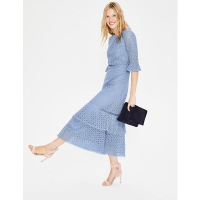 Lana Lace Midi Dress Blue Women Boden, Blue