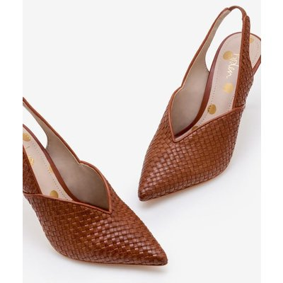 Hazel Woven Heels Brown Women Boden, Tan