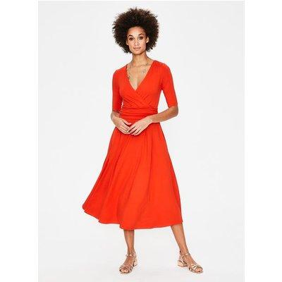 Kassidy Jersey Midi Dress Red Women Boden, Red