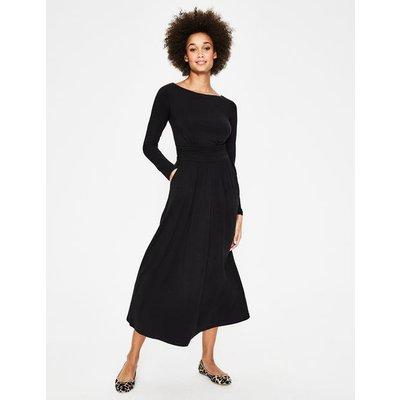 Lucille Jersey Midi Dress Black Women Boden, Black