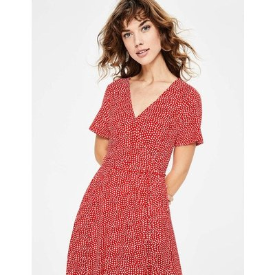 Cassia Jersey Midi Dress Red Women Boden, Ivory