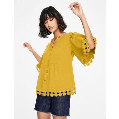 Ayla Jersey Top Yellow Women Boden, Yellow