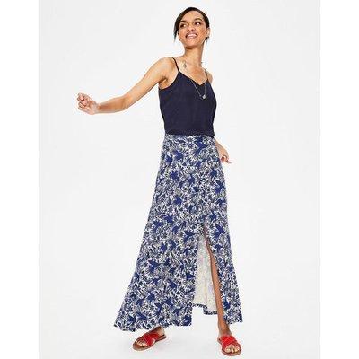 Albany Jersey Maxi Skirt Blue Women Boden, Blue