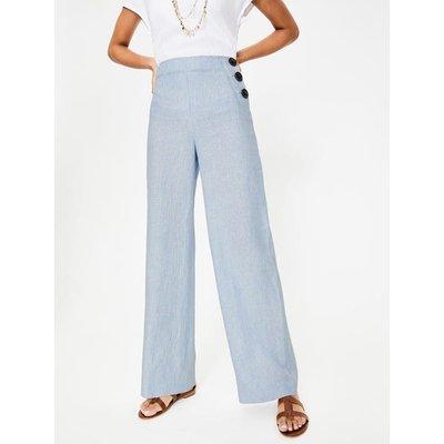 Penzance Linen Trousers Multi Women Boden, Ivory