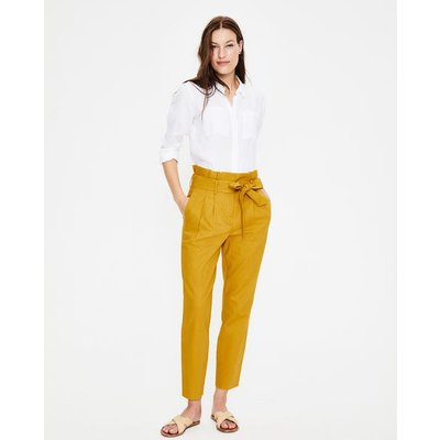 St Ives Paperbag Trousers Yellow Women Boden, Yellow