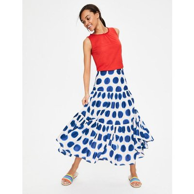 Tamara Skirt Blue Women Boden, Ivory