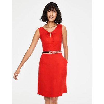 Rae Linen Dress Red Women Boden, Red