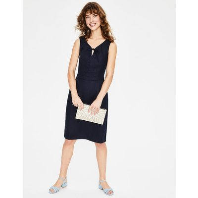 Rae Linen Dress Navy Women Boden, Navy