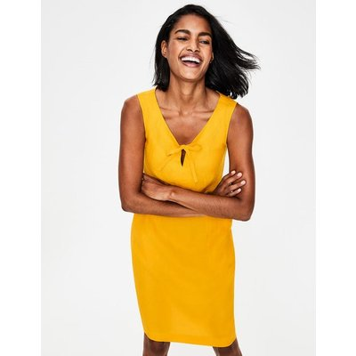 Rae Linen Dress Yellow Women Boden, Yellow