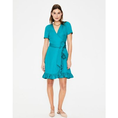 Federica Wrap Dress Blue Women Boden, Blue