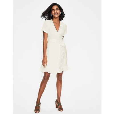 Federica Wrap Dress Ivory Women Boden, Ivory