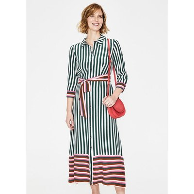 Mallory Midi Shirt Dress Green Women Boden, Green