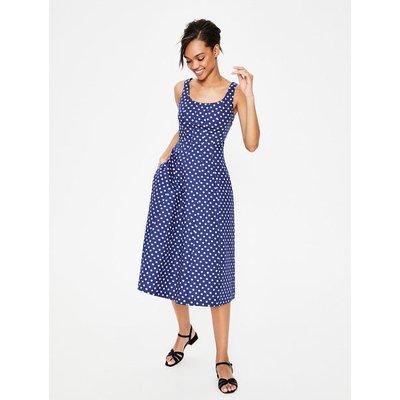 Sabina Midi Dress Blue Women Boden, Blue