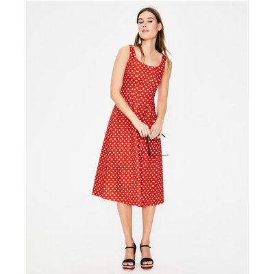 Sabina Midi Dress Red Women Boden, Red
