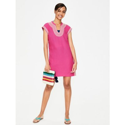Yasmin Embroidered Linen Tunic Pink Women Boden, Pink