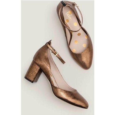 Yasmin Mid Heels Gold Women Boden, Gold
