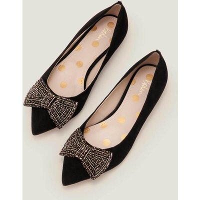 Adelaide Jewelled Flats Black Women Boden, Black