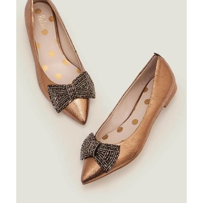 Adelaide Jewelled Flats Gold Women Boden, Gold