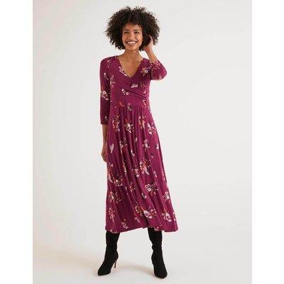 Francesca Jersey Midi Dress Purple Women Boden, Purple