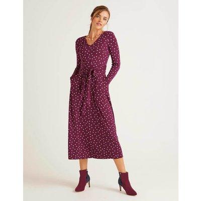 Ferne Jersey Midi Dress Purple Women Boden, Purple